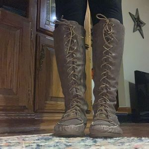 Sperry lace front riding boot